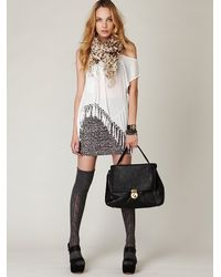 Free People | White Fearless Fringe Graphic Tee | Lyst