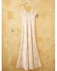 Free People - White Vintage Dior Slip Dress - Lyst