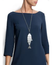 Mango - Blue Fish Necklace - Lyst