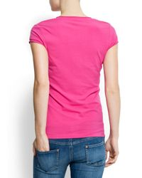 Mango | Pink Mickey Mouse T-shirt | Lyst