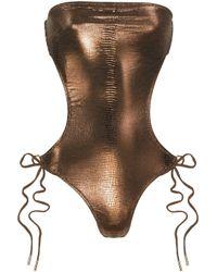 Melissa Odabash | Metallic Amalfi Reptile-print Swimsuit | Lyst