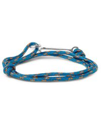 Miansai | Blue Modern Anchor Wrap Bracelet for Men | Lyst
