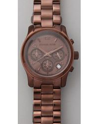 Michael Kors | Brown Runway Chronograph Watch | Lyst