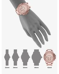 Michael Kors | Pink Rose Gold Stainless Steel & Crystal Chronograph Watch | Lyst