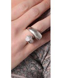 Noir Jewelry - Metallic Wrap Cone Ring - Lyst