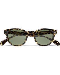 Oliver Peoples | Green Sheldrake Round Frame Acetate Sunglasses for Men | Lyst