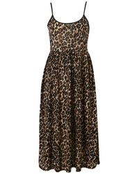 TOPSHOP | Brown Animal Strappy Grunge Dress | Lyst
