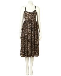 TOPSHOP   Brown Animal Strappy Grunge Dress   Lyst