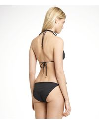 Tory Burch - Black Solid String Bikini Top - Lyst