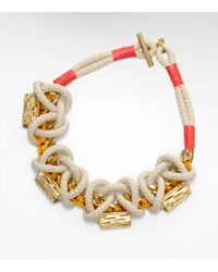 Tory Burch | Metallic Cactus Wreath Necklace | Lyst