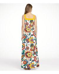 Tory Burch | Brown Ivey Silk Maxi Dress | Lyst