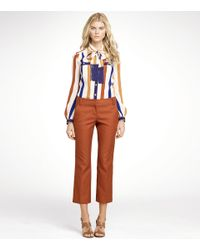 Tory Burch | Brown Harp Pant | Lyst