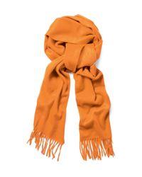 Turnbull & Asser - Orange Classic Cashmere Scarf for Men - Lyst