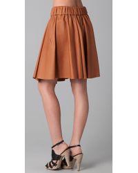 Acne Studios | Brown Romantic Leather Skirt | Lyst
