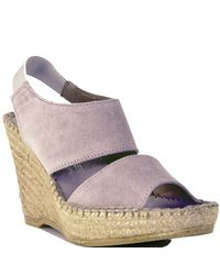 Andre Assous | Brown Reese - Taupe Suede Wedge Slingback Espadrille | Lyst