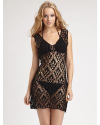 Anna Kosturova | Black Emma Crochet Dress | Lyst
