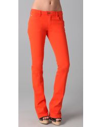 DSquared² | Orange Boot Cut Jeans | Lyst