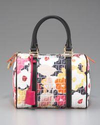 Fendi | Multicolor Floral Zucca Bowler Bag | Lyst