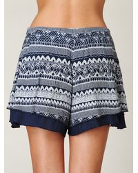 Free People | Blue Lost Temple Skort | Lyst