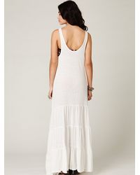 Free People | White Move West Maxi Dress | Lyst