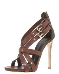 Giuseppe Zanotti | Brown Zip-back High-vamp Crisscross Sandal | Lyst