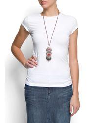 Mango - White Basic T-shirt - Lyst