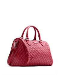 Mango - Red Quilted Bowling Handbag - Lyst