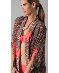 Mara Hoffman - Pink Long Chiffon Cocoon Cover Up - Lyst