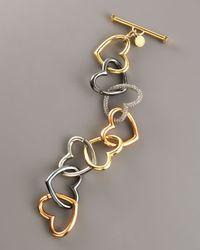 Marc By Marc Jacobs - Metallic Jumbled Heart Bracelet - Lyst