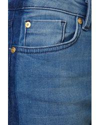 TOPSHOP - Blue Side Stripe Jamie Jeans - Lyst