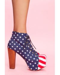 Nasty Gal | Multicolor Lita Platform Boot - American Flag | Lyst