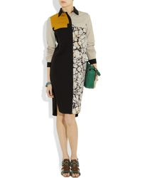 Proenza Schouler | Black Block-print Shirt Dress | Lyst