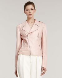 Ralph Lauren - Pink Leather Motorcycle Jacket - Lyst