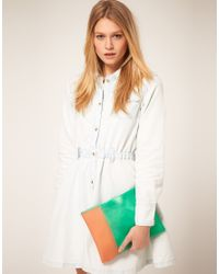 ASOS Collection - Green Asos Frosted Perspex Clutch - Lyst