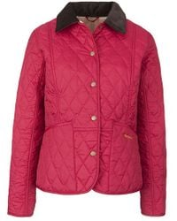 3ab11d16dee Barbour Summer Liddesdale Quilted Jacket Fuschia in Pink - Lyst
