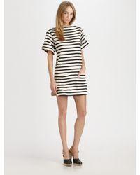 By Malene Birger | Black Nagat Striped Dress | Lyst