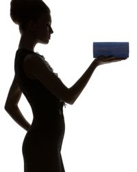 Judith Leiber Couture | Blue New Long Kiss Crystal Clutch Bag | Lyst