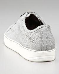 Lanvin | Gray Laser-cut Sneaker for Men | Lyst