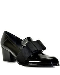 Stuart Weitzman | Smoking - Black Patent Leather Loafer Pump | Lyst