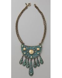 Vanessa Mooney - Green Cleodora Short Necklace - Lyst