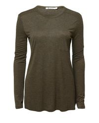 T By Alexander Wang | Green Classic Long Sleeve Pocket Tee | Lyst