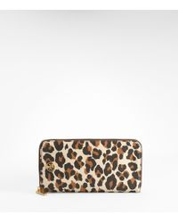 Tory Burch | Multicolor Leopard Robinson Travel Wallet | Lyst