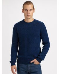 A.P.C. | Blue Melange Sweater for Men | Lyst