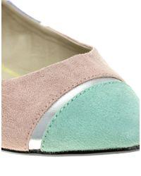 ASOS | Multicolor Asos Lula Pastel Colour Block Ballet Flats | Lyst