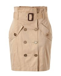 Burberry Brit | Natural Trench Pencil Skirt | Lyst