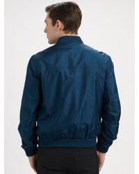 Dior Homme | Blue Silk Bomber Jacket for Men | Lyst