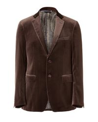 Etro | Brown Chocolate Velvet Jacket for Men | Lyst