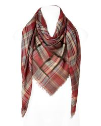 Etro | Green and Earth Red Plaid Scarf for Men | Lyst