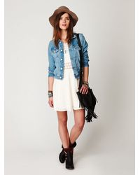 Free People | White Fitted with Daisies Dress | Lyst