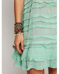 Free People - Green Fp One Poison Pintuck Slip - Lyst